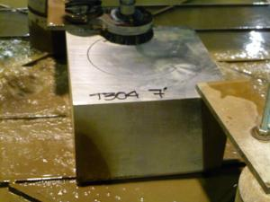 "7"" Thick Plate Waterjet Cut"